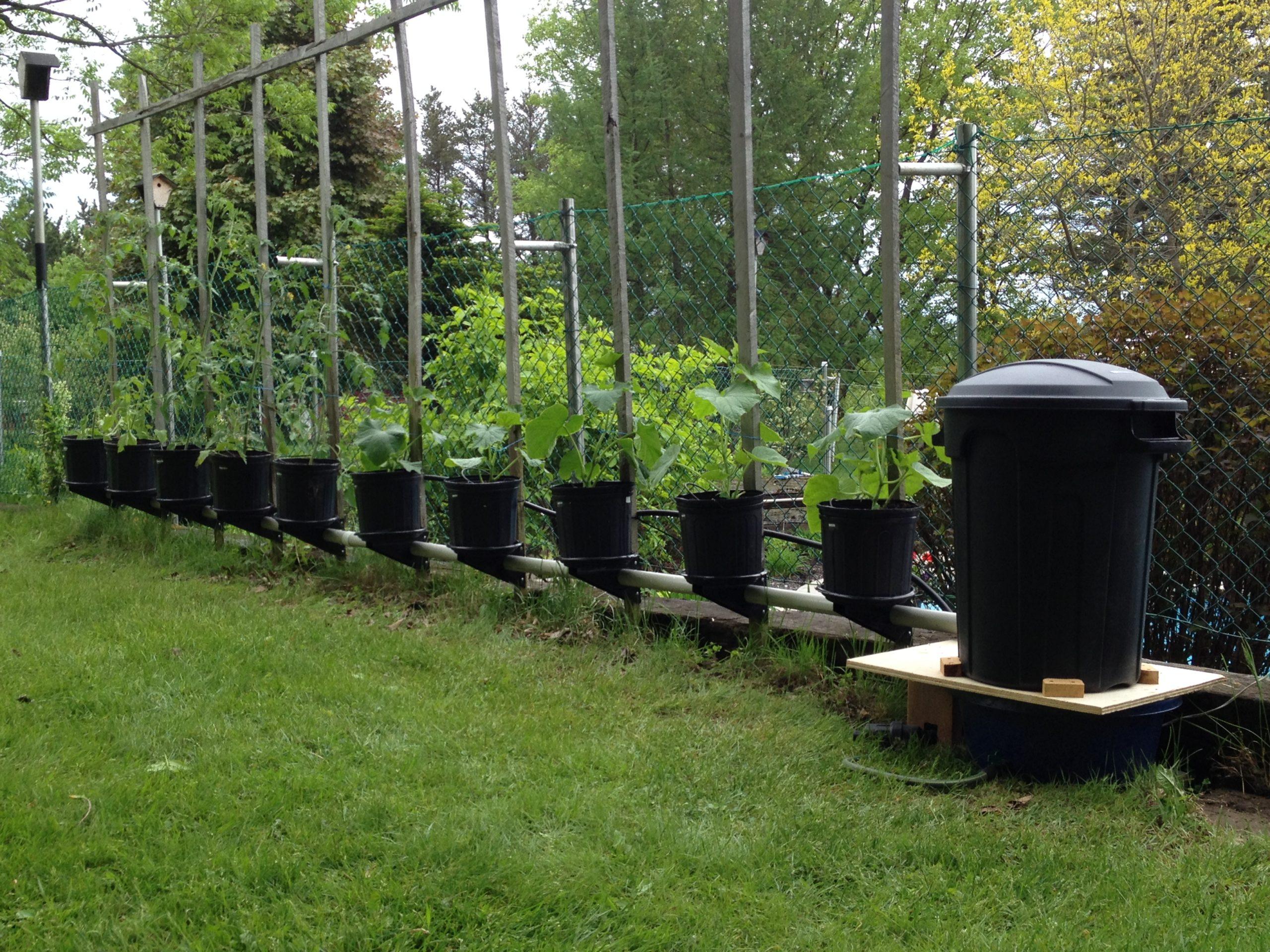 Jardin 1 x 10 pots linéaire